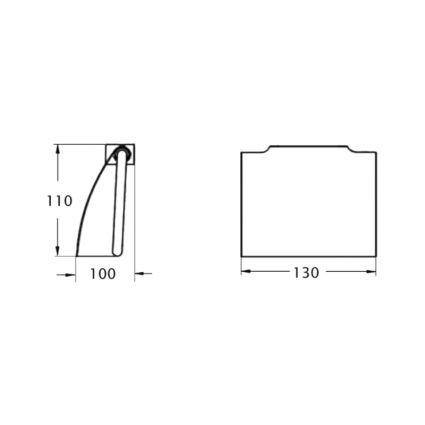 Тримач для туалетного паперу з кришкою Potato P302 - 2