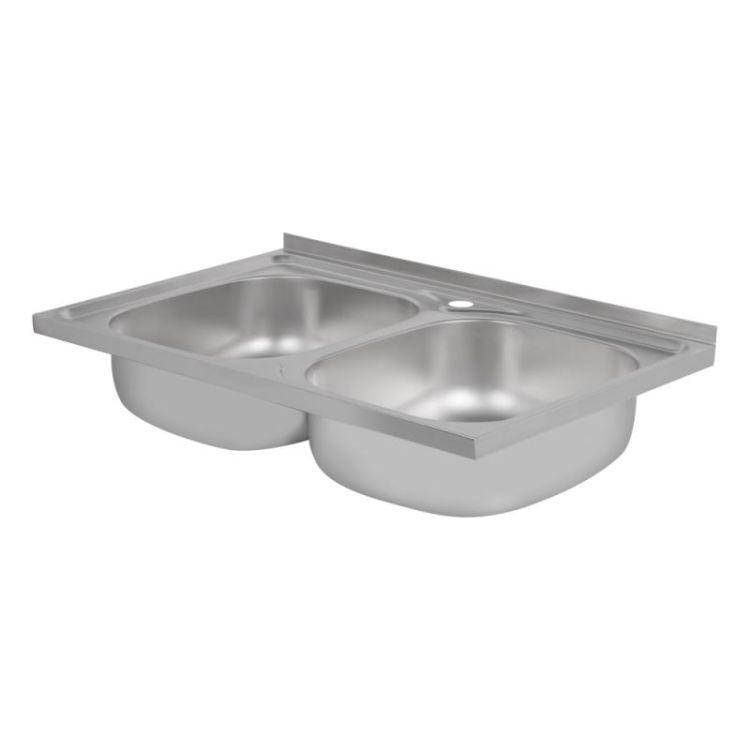 Кухонна мийка Lidz 5080 Satin 0,8 мм (LIDZ5080SAT8) - 4