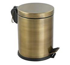 Комплект: Відро для сміття з педаллю 5Л + йоршик для унітазу, колір антик