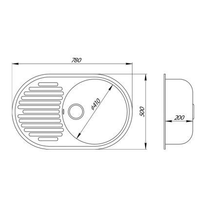 Кухонна мийка GF MAR-07 (GFMAR07780500200) - 2