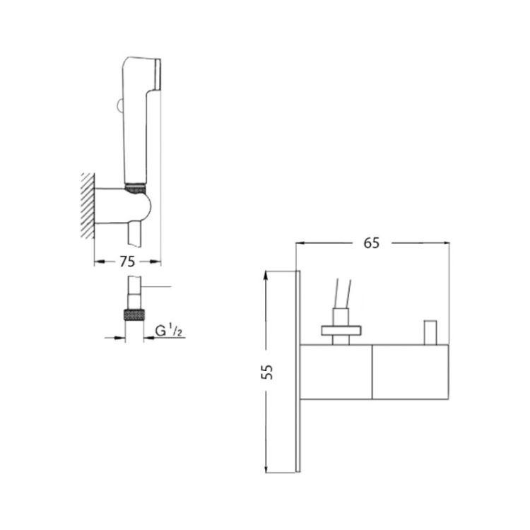 Гігієнічний душ Potato P432-8 - 2