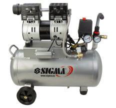 Компресор двоциліндровий безмасляний 1.1 кВт 154л/хв 8бар 30л SIGMA (7042531)
