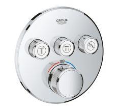 SmartControl Термостат для душа/ванны с 3 кнопками, накладная панель