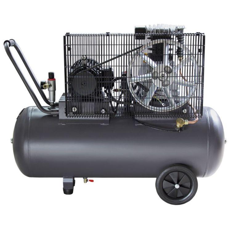 Компрессор ременной двухцилиндровый 380В 2.2кВт 508л/мин 10бар 100л Sigma Refine (7044211) - 2