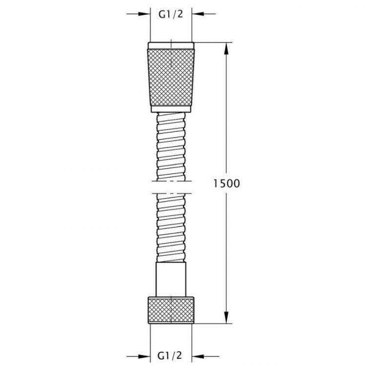 Шланг для душа 150см Touch-Z 802 - 2