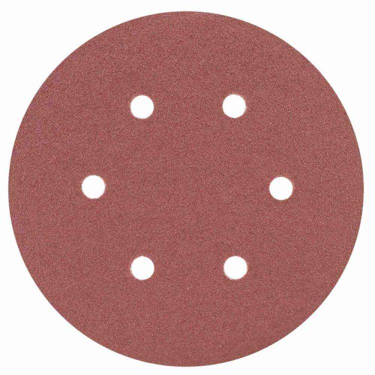 Шлифовальный круг 6 отверстий Ø150мм P80 (10шт) Sigma (9122251) - 1