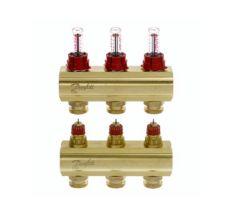 Колектор з витратомірами Danfoss FHF на 3 виходи (088U0523)