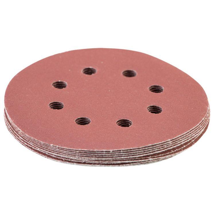 Шлифовальный круг 8 отверстий Ø125мм P320 (10шт) Sigma (9122731) - 3