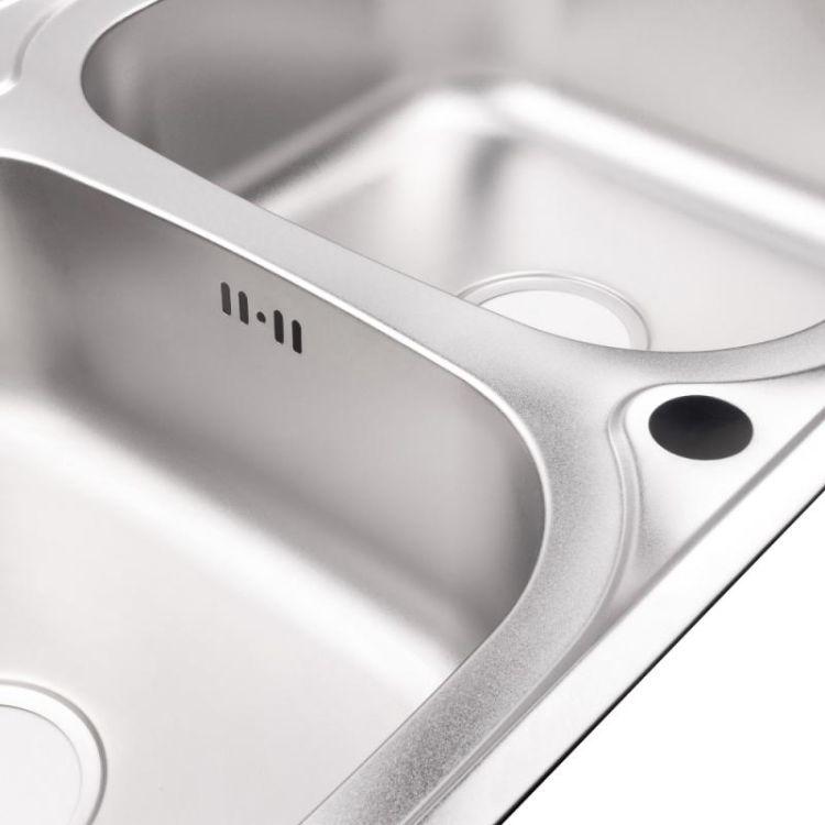 Кухонна мийка Lidz 7948 Satin 0,8 мм (LIDZ7948SAT8) - 5