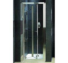 GEO6 двери в нишу bifold 80 см, стекло PRISMATIC, профиль серебряный блеск