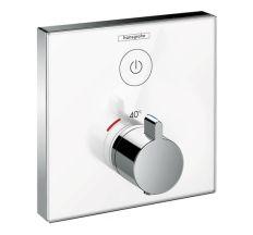 ShowerSelect Термостат для одного споживача, скляний, СМ, білий/хром