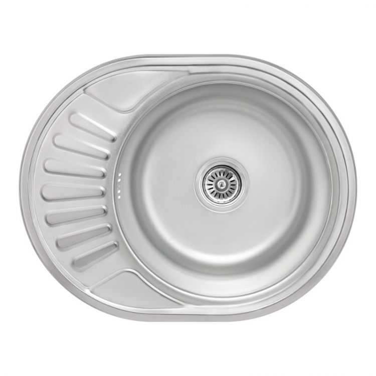 Кухонна мийка Lidz 5745 dekor 0,8 мм (LIDZ5745MDEC) - 1