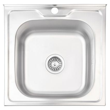 Кухонна мийка Lidz 5050 Decor 0,8 мм (LIDZ5050DEC08) - 1