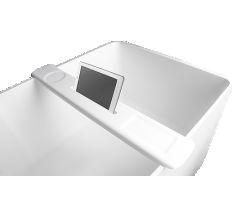 Накладная полка на ванну, каменная Solid surface 870*115*24mm, цвет Sand