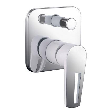 BRECLAV змішувач прихованого монтажу для ванни, хром/білий, 35мм - 1