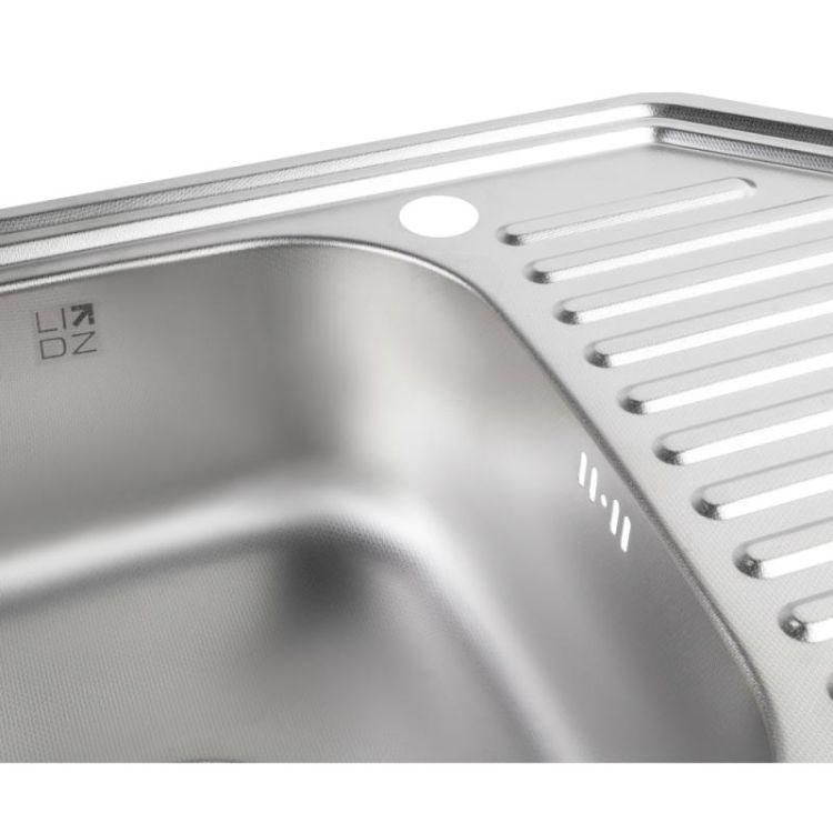 Кухонна мийка Lidz 9550-D Decor 0,8 мм (LIDZ9550DEC08) - 5