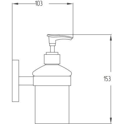 Дозатор для рідкого мила Potato P2927 - 2