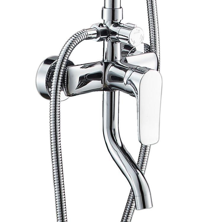 VELUM система душевая (смеситель для ванны, верхний и ручной душ) - 3