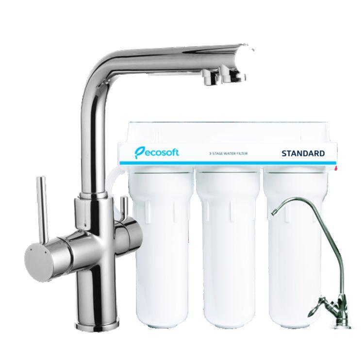Комплект: DAICY смеситель для кухни, Ecosoft Standart система очистки воды (3х ступенчатая) - 1