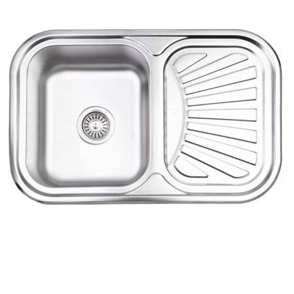 Кухонна мийка Lidz 7549 Satin 0,8 мм (LIDZ7549SAT8) - 1