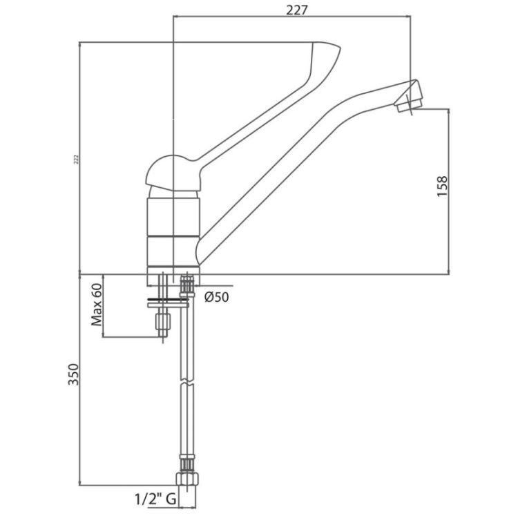 Смеситель для кухни Bianchi LVMSTR 2000 CRM - 2