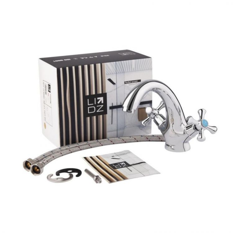 Змішувач для умивальника Lidz (CRM)-30 21 161 00 - 6