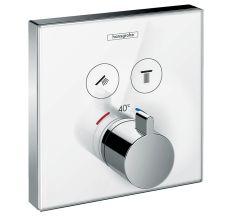 ShowerSelect Термостат для двох споживачів, скляний, СМ білий/хром
