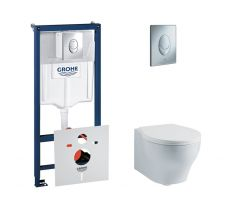 Комплект унітаз+інсталяція (Azzurra Vera VER100B1/SOSK+Azzurra Vera VER1848TIF+Grohe Rapid SL 38721001)
