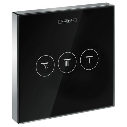 ShowerSelect Модуль з трьома запірними клапанами, скляний, чорний/хром - 1