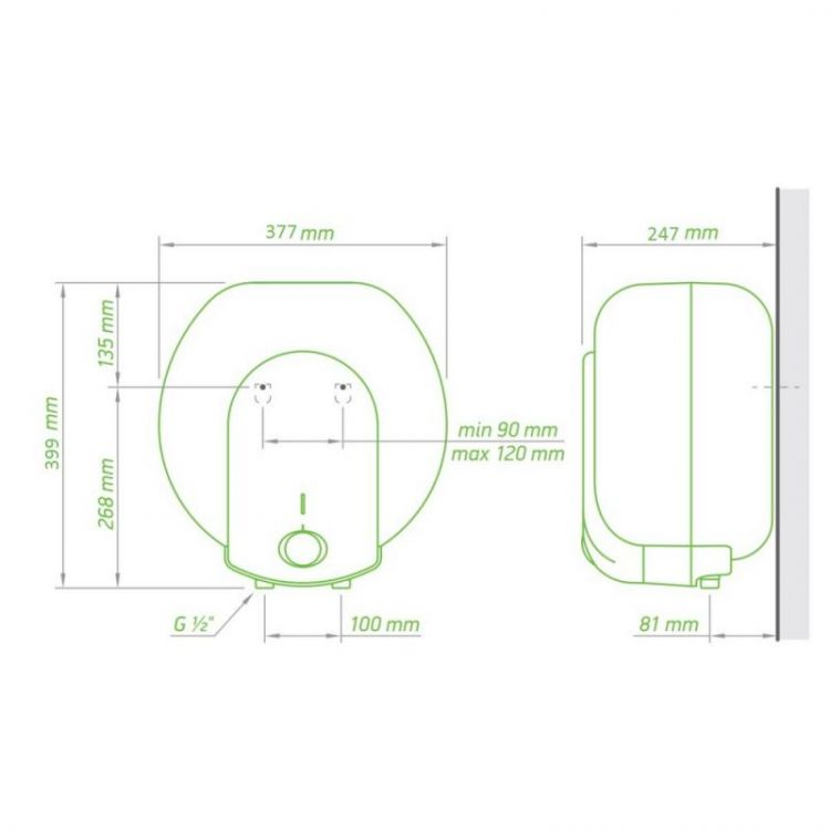Водонагрівач Tesy Compact Line 10 л, 1,5 кВт GCA 1015 L52 RC - 2