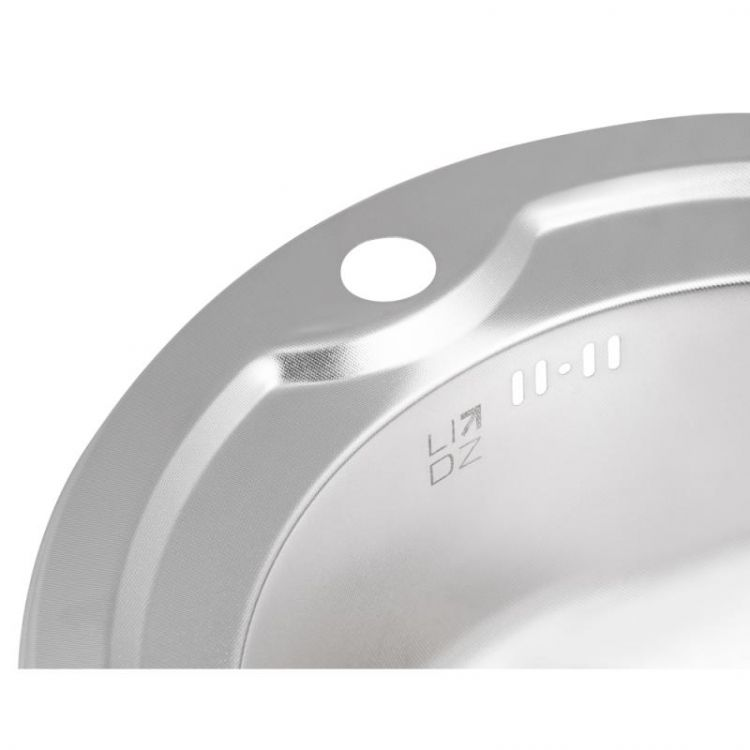 Кухонна мийка Lidz 510-D dekor 0,8 мм (LIDZ510DEC) - 6