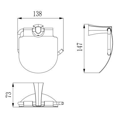 CUTHNA stribro держатель для туалетной бумаги - 2