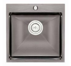 Кухонна мийка Qtap D5050BL 2.7/1.0 мм (QTD5050BLPVD10)