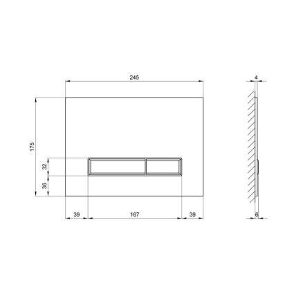 Панель змиву для унітазу Q-tap Nest PL M08GLBLA - 2