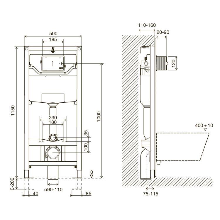 IMPRESE Комплект інсталяції 3в1(клавіша PANI хром) - 2