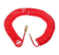 Шланг спиральный полиуретановый (PU) армированный 15м 5.5×8мм Refine (7013431)