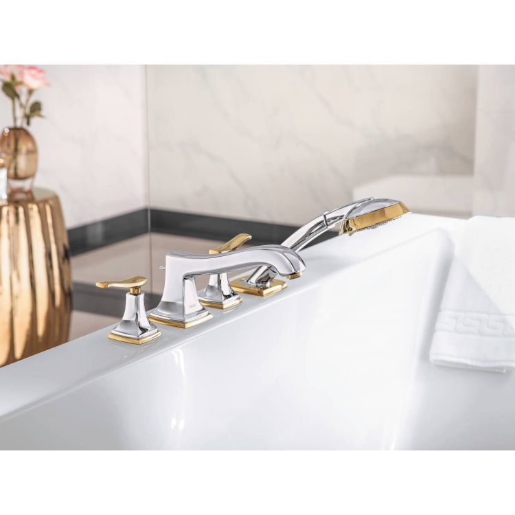 Metropol Classic Змішувач на край ванни, на 4 отвори, з важільними рукоятками, хром/золото - 3
