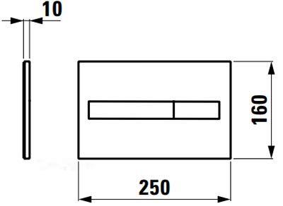 LIS клавіша змиву для системи подвійного змиву, матовий хром - 2