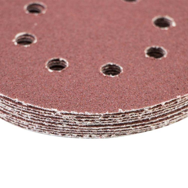 Шлифовальный круг 8 отверстий Ø125мм P60 (10шт) Sigma (9122641) - 4