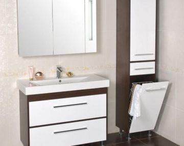 Яка повинна бути мебель в ванній кімнаті: матеріали, форми - 1