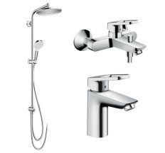 LOGIS LOOP набор смесителей + Showerpipe Reno (71151000+71244000+27270000)