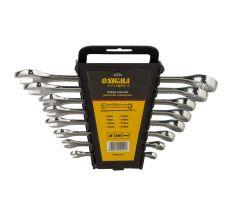 Ключі рожково-накидні 8шт 6-19мм CrV polished Sigma (6010421)
