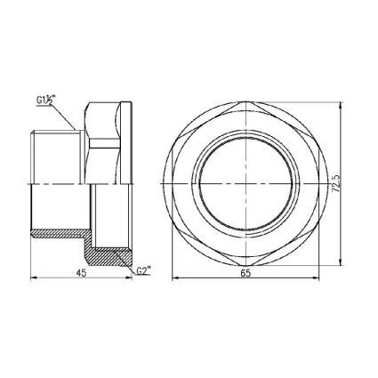 Перехід Forte 2Вх1 1/2Н - 2