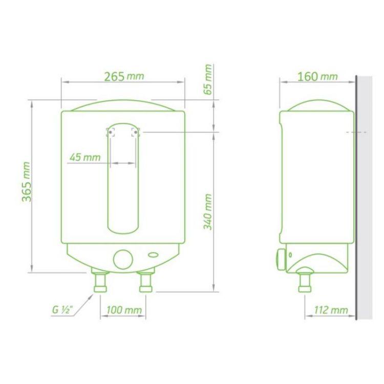 Водонагрівач Tesy Compact Line 6 л, 1,5 кВт GCA 0615 M01 RC - 2