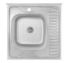Кухонна мийка Lidz 6060-L Satin 0,8 мм (LIDZ6060LRSAT8)
