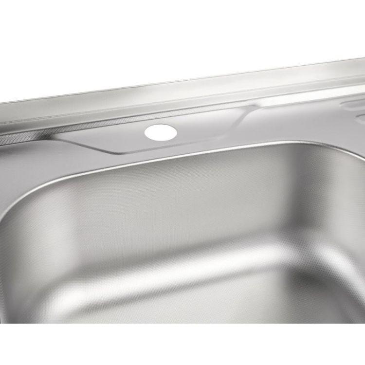 Кухонна мийка Lidz 6060-L Decor 0,8 мм (LIDZ6060LDEC08) - 6
