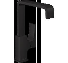 METROPOL змішувач для раковини, одноважільний з донним клапаном push-open, чорний мат
