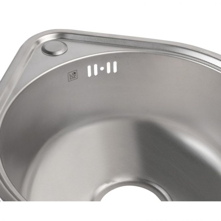 Кухонна мийка Lidz 4539 dekor 0,8 мм (LIDZ4539MDEC) - 6