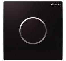 GEBERIT система електронного управління змивом пісуара, живлення від мережі, захисна кришка типу 10: чорна, глянцевий хром