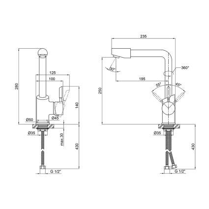 Змішувач для кухні Q-tap Elit 007F - 2